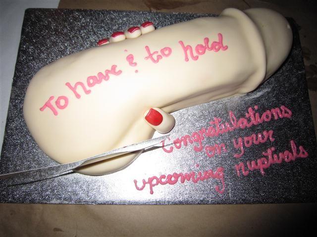 Omg. Best bachelorette cake ever!! hahaha