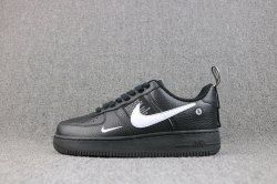 Unisex Nike Air Force 1 07 LV8 Utility Pack Black White AJ7747 001 Men s  Women s Casual Shoes f926aeb62