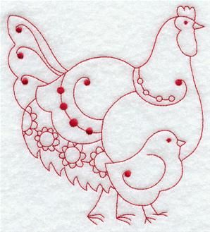 Machine Embroidery Designs at Embroidery Library! - Redwork Animals