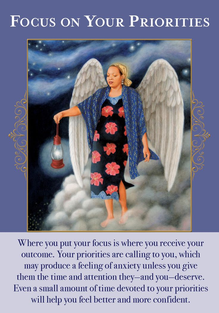 Oracle Card Focus On Your Priorities | Doreen Virtue - Official Angel Therapy Website