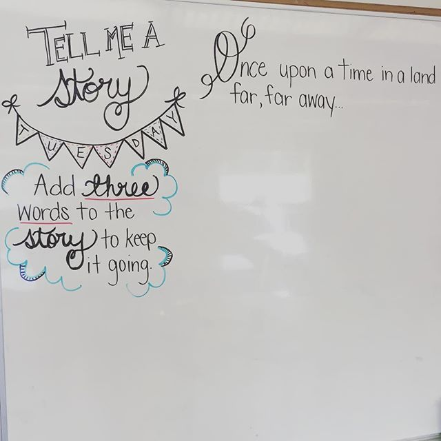 Tell me a story... Oh @heaven_in_7th how I LOVE this one! ✨#blondebombsquad #teacherbesties #teachersfollowteachers #teachersofinstagram #iteachtoo #iteach7th #miss5thswhiteboard