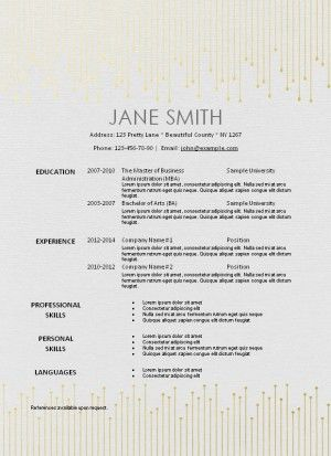 Instant Resume Templates [Corybantic.Us]
