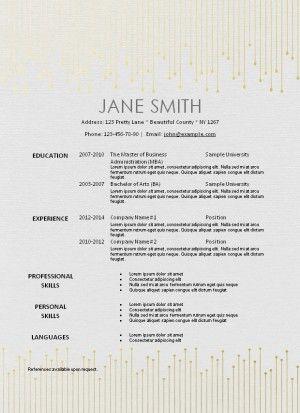25+ unique Free printable resume ideas on Pinterest Resume - instant resume templates