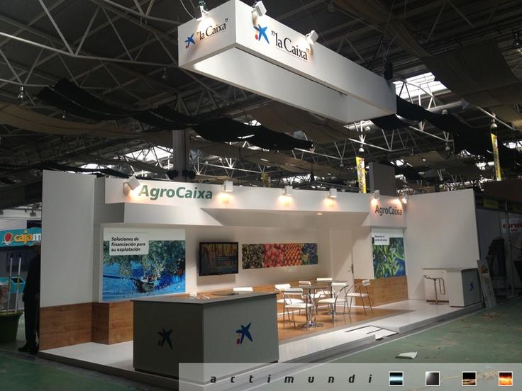 Actimundi #AgroCaixa Montaje del #Stand #Feria Diseño.