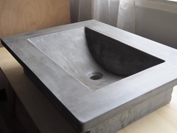 Concrete Vanity Top With Images Custom Bathroom Vanity Vanity