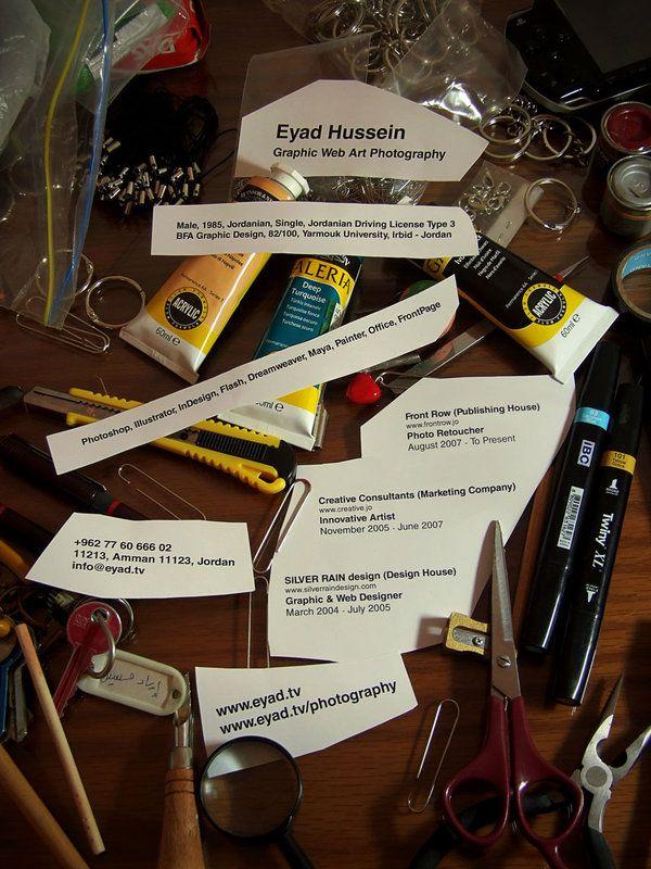 Curriculum Vitae eines Kreativen |Eyad Hussein |via deviantART