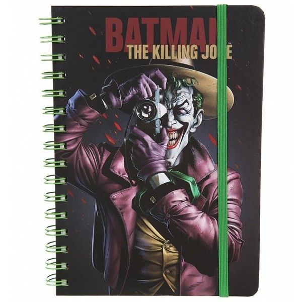 DC Comics Retro Batman Killing Joke A5 Notebook ($6.39) ❤ liked on Polyvore featuring home, home decor and stationery