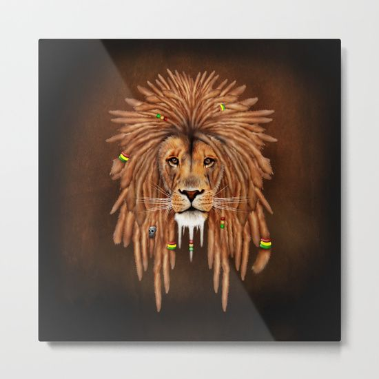 Rasta Lion Dreadlock METAL PRINT @pointsalestore #society6 #metalprint #metal #art #artdesign #artprint #painting #digital #oil #popart #streetart #rasta #dreadlock #marley #bob #lion #lionking #simba #kingofthejungle #tarzan #music #raggae #africa #junglebook #beast #animal #cat #bigcat