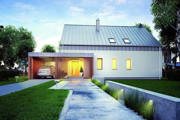 nowoczesny dom dach stromy - Szukaj w Google