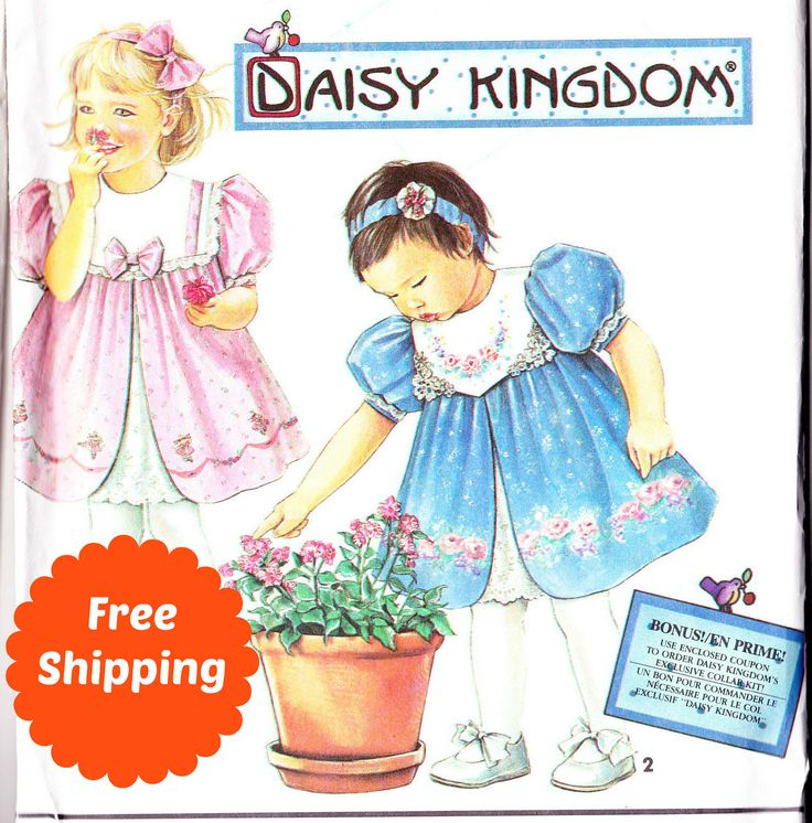Sewing Patterns for Girls Party Dress Sewing Pattern Girls Pattern Baby Dress Pattern Size 1 Size 2 Toddler Daisy Kingdom Simplicity 8316 by PatternsFromOz on Etsy