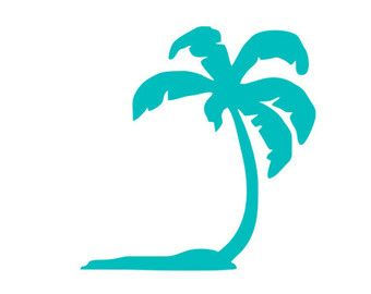 palm tree decal monogram frame silhouette svg dxf file instant download silhouette cameo cricut clip art