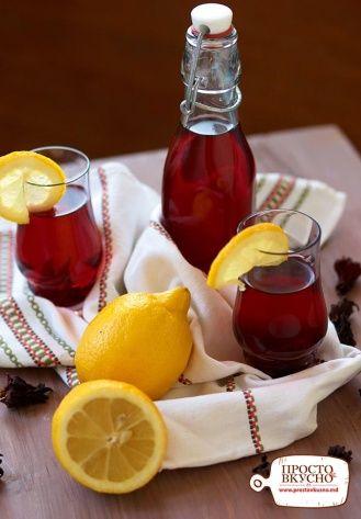 Просто&Вкусно - Напитки - Каркаде с лимоном и розмарином