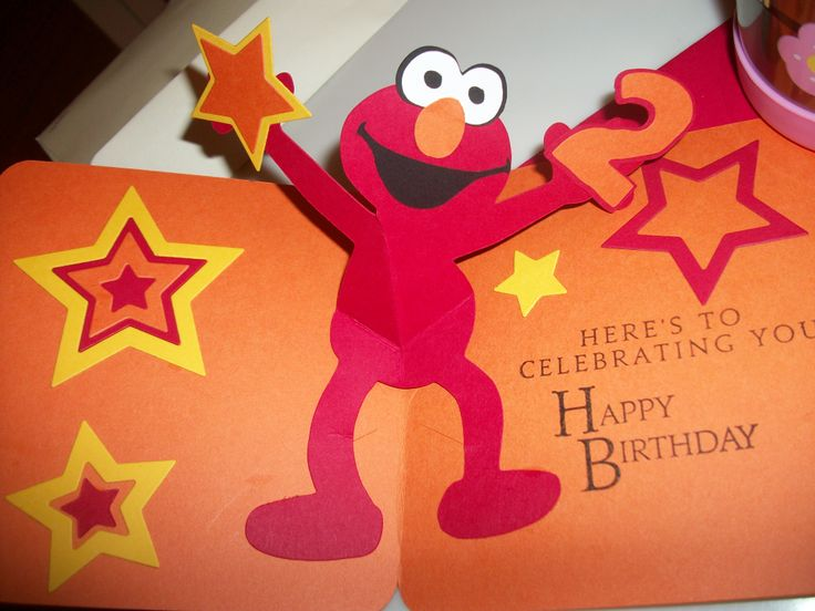 20 best birthday sprout ideas for my noah images on pinterest inside of elmo birthday card bookmarktalkfo Image collections