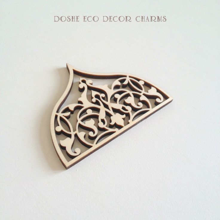 Cool airy Laser cut ornamental wood detail 359 / Laser cut wood / Wood ornaments / Wood shapes / Wedding decor / Wood charms / Wood cutouts by DosheEcoDecorCharms on Etsy