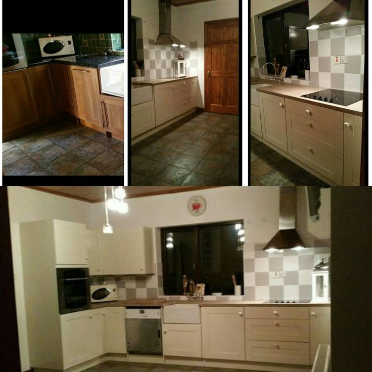Jmc coatings re sprayed this pine kitchen to petticoat by colourtrend