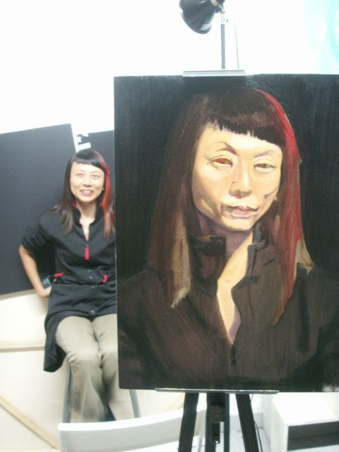#carolinebergonzi #art #live #portrait #oilpaint