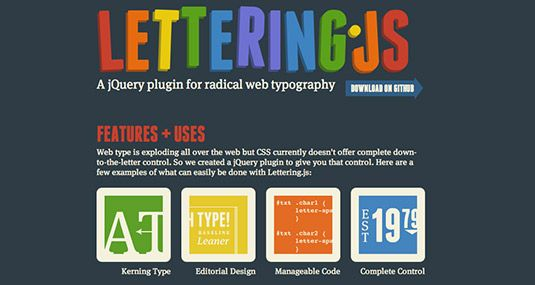 Lettering js @Team Mango Media Private Limited Via http://www.themangomedia.com/blog/the-most-important-jquery-tips-and-best-jquery-plugins-of-2014/