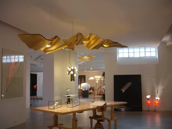 Ingo Maurer Golden Ribbon Ingo Maurer Lighting Lighting Lighting Design Interior Lighting