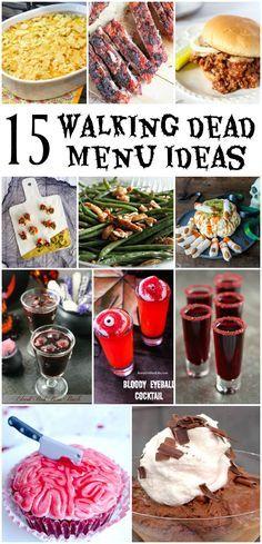 15 Walking Dead Party Menu Ideas – Merry Monday Link Party 177