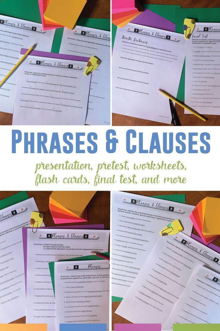 Distance Learning Phrases And Clauses Digital Grammar Worksheets Presentation Grammar Lessons Teaching High School English Language Arts Lessons [ 1102 x 735 Pixel ]