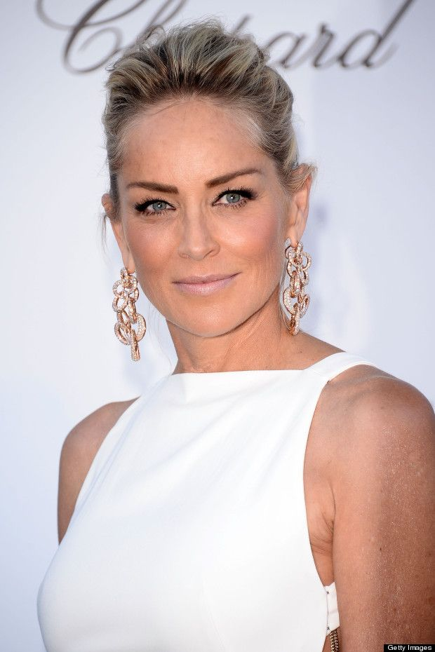 Sharon Stone -  This is how makeup should look.  Clean, Beautiful, soft, and sexy #dermadarling, #aging, #agesexy