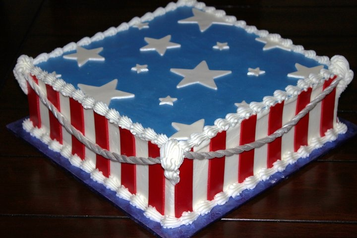 fourth of july fondant cake