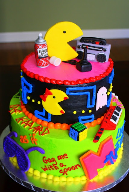 I LOVE THE 80'S Cake-Awesome cakes! Check out this blog, she does amazing work!