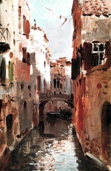 Канал в Венеции. Isaac Levitan