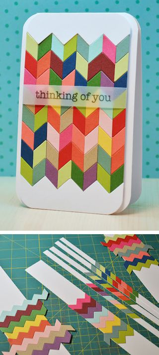 Birthday card idea, DIY cards, chevron diy card, chevron, great diy
