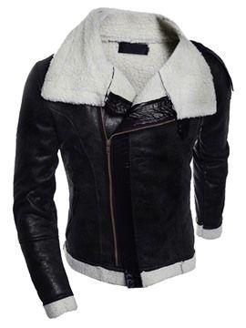 Ericdress vastagítása PU Vogue Slim Férfi kabát