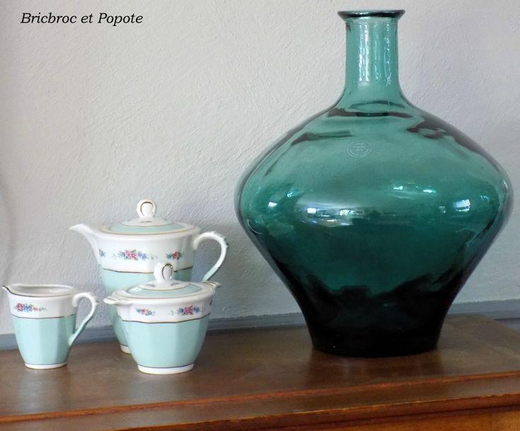 bonbonne artisanale d coration en verre petite d co pinterest d corations en verre. Black Bedroom Furniture Sets. Home Design Ideas