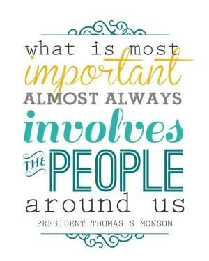 """what is most important"" free printable - LDS quote - color and chalkboard versions - from www.itsalwaysautumn.com #lds #quote #printable by sheena"