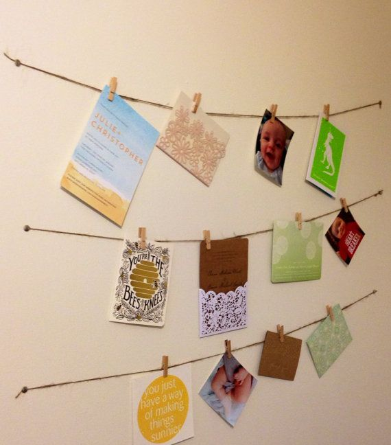Rustic Picture Hanging Kit // Picture Clothesline Display //