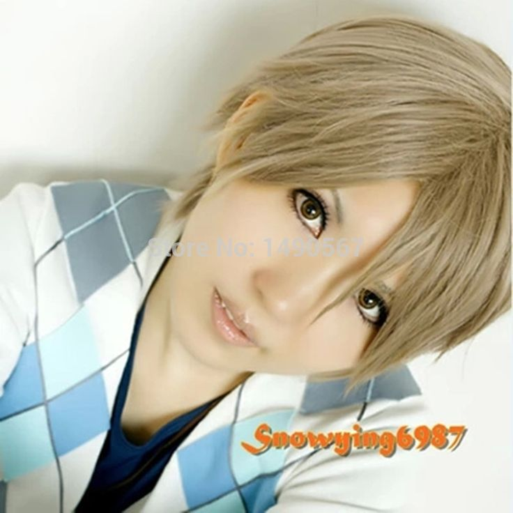 Нацумэ yujin-чо нацумэ _ такаши / Gintama Okita Sougo короткие светлые прямые волосы косплей