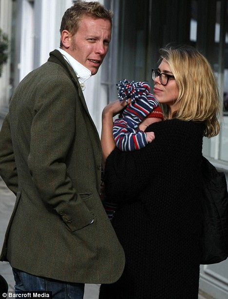 Laurence Fox (Inspector Lewis), pictured with wife Billie Piper (Doctor Who) and baby Winston