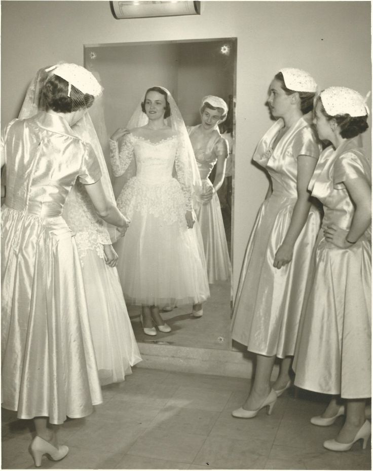 Bride and attendants, 1952