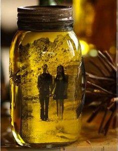 Vintage Photo Mason Jar Crafts | AllFreeDIYWeddings.com
