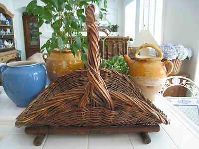 Fabulous antique willow basket~~fill it with strawberries, wedding favors, pine cones, apples, even beautiful empty.