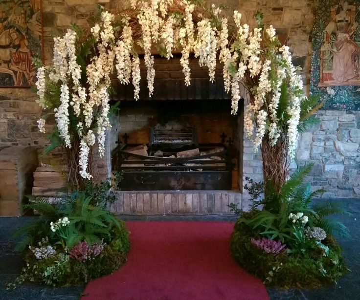 Wisteria floral arch by Jimazen Flowers