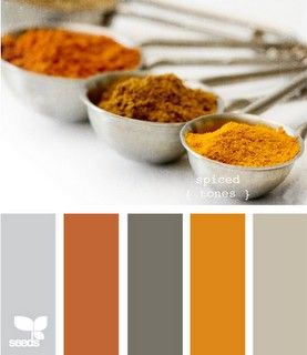 orange and gray,