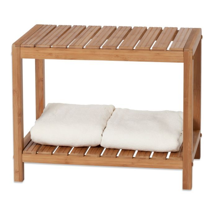 Resting Bench For Fitness Room Creative Bath Ecostyles Bamboo Spa