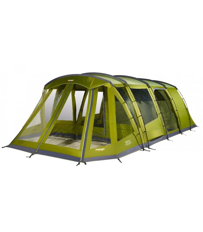 Navigate around the 360 video using your mouse or by touch. If you are unable to view the 360 video please check you are using the latest browser version.The Orava 500XL is new to the Vango Exceed range, featuring pre-angled Fibreglass poles for extra head room throughout. This 5 person tent boasts a vast living area and a home from home feel with the inclusion of inner dividers, new and improved ventilation and the luxury of a sewn-in groundsheet. Be the envy of the campsite with this…