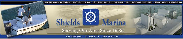 Shields Marina is a North Florida boat dealer offering new & used pontoon boats, cruisers, center console boats, cuddy cabin, deck boats,  fishing boats, walkarounds and more at very competitive prices. We also offer boat rentals.   Rent float & pontoon boats, kayaks and bikes. 95 Riverside Drive St. Marks FL 32355 Phone:  850-925-6158  shieldsmarina@comcast.net