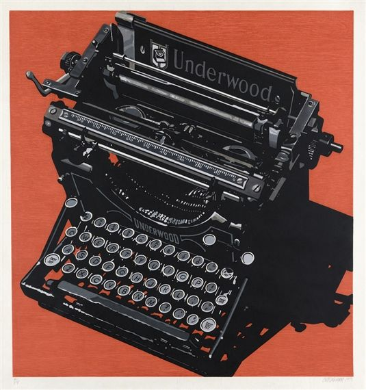 Artwork by Robert Cottingham, Underwood, Made of Color woodcut with screenprint on Japanese Kozo paper