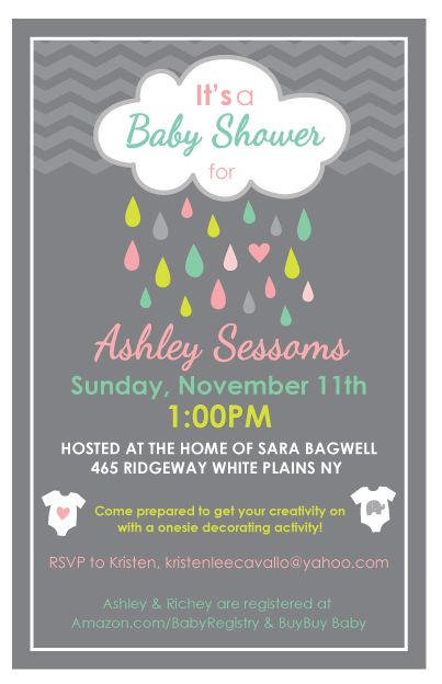 Rain Shower Invite: April Showers Bring May Flowers ~perfect Kellie <3