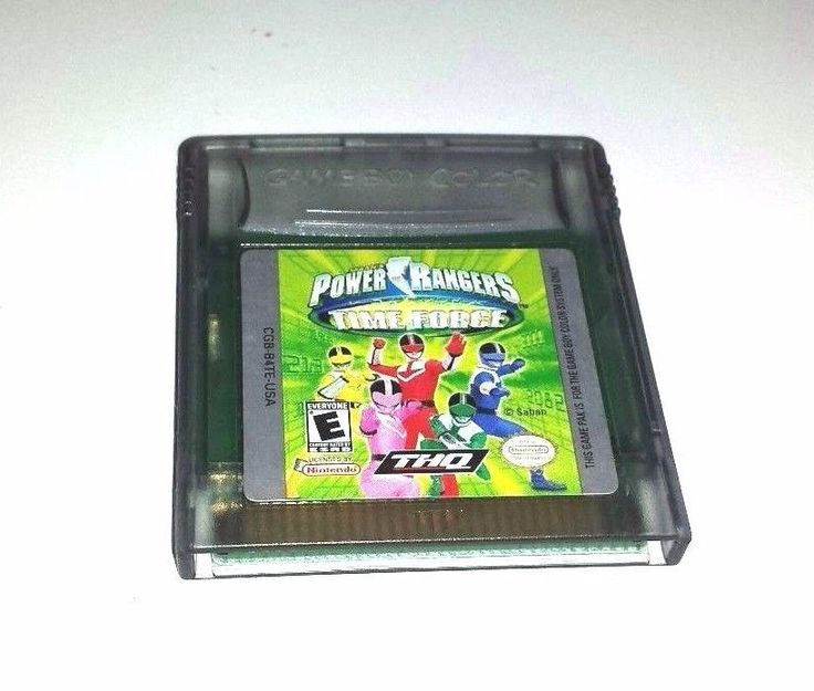 Gameboy Color Game GBC GBA SP POWER RANGERS TIME FORCE 15 Intense Fun Levels