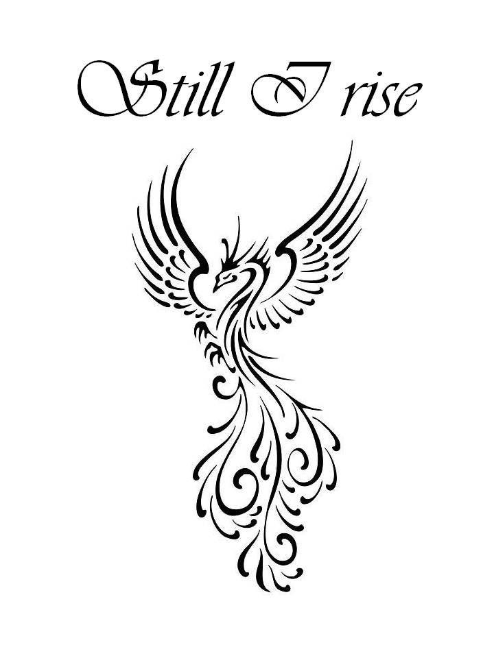 Still I Rise Phoenix Tattoo Design