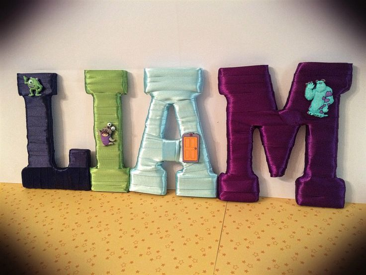 Monsters Inc Name Set, Boy Room Decor, Boy Baby Shower Gift, Personalized Gift, Personalized Gifts for Kids, Tightly Wound Designs by TightlyWoundDesigns on Etsy https://www.etsy.com/listing/239608173/monsters-inc-name-set-boy-room-decor-boy