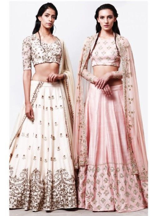1008dca7ce16b Beautiful Raw Silk Lehenga-Choli . Embellished with hand embroidery work.  Paired with net dupatta. Light color collections with summer feelings