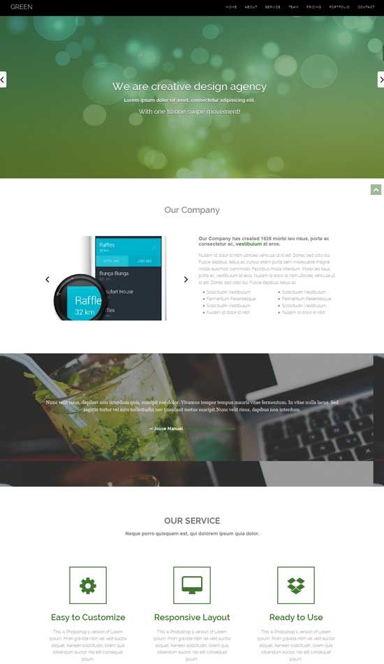 Green-Free-HTML-Bootstrap-template